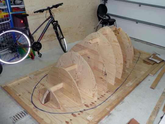 Wooden Framework of the Orca Back