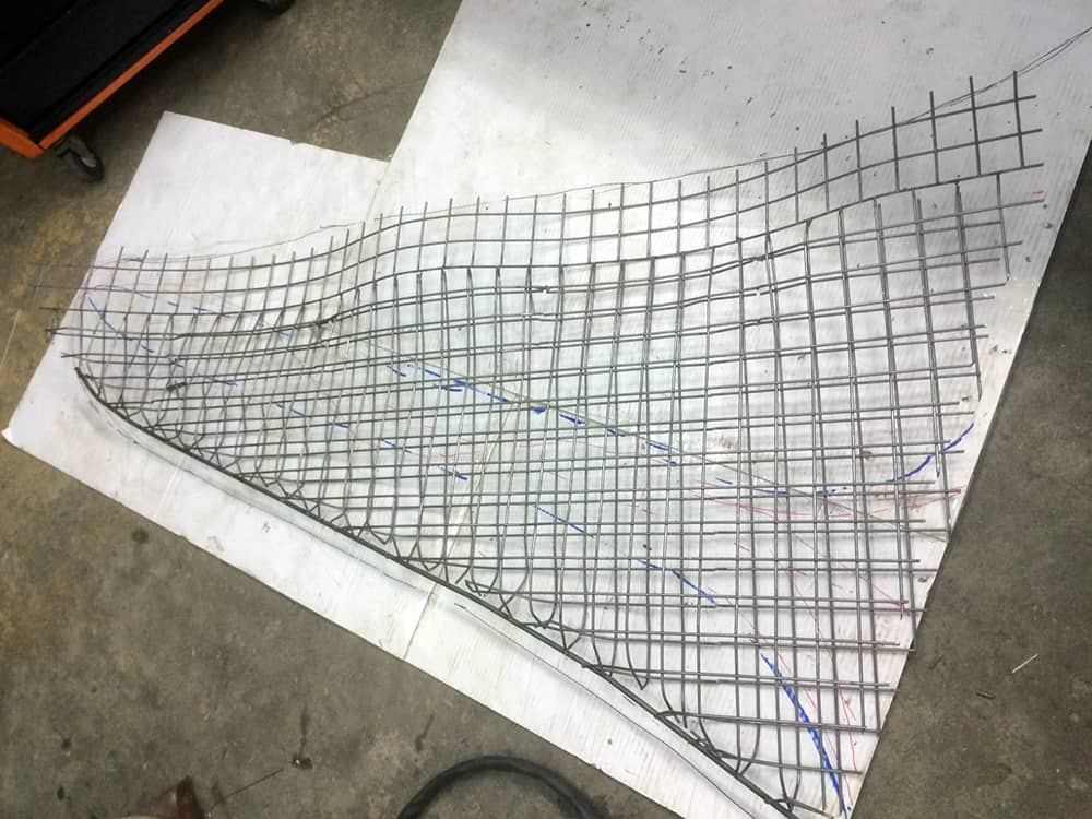 Wire Framework of the Fin