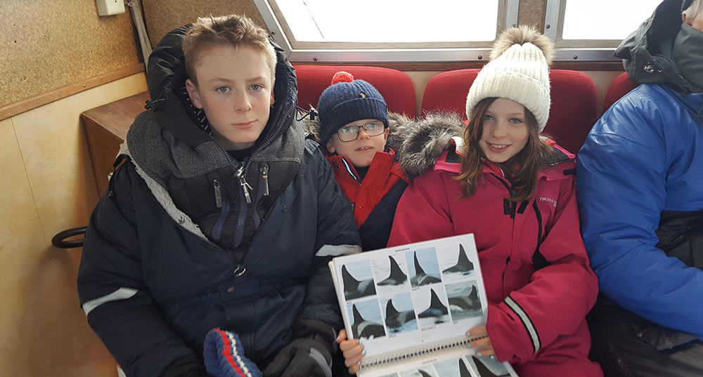 From Left to Right: Dan, Jude and Alannah with the Orca ID Catalogue